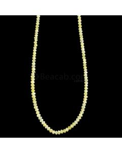 1 Line - Yellow Diamond Faceted Beads - 19.54 cts. - 1.7 to 2.6 mm (YDIA1047)