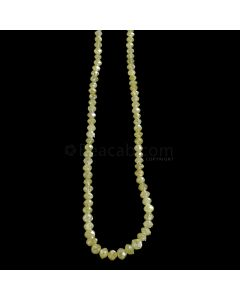 1 Line - Yellow Diamond Faceted Beads - 31.76 cts. - 2.5 to 4.5 mm (YDIA1049)
