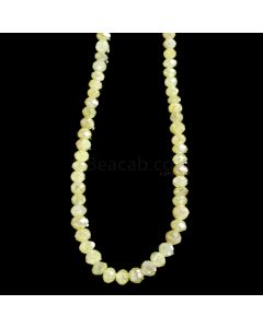 1 Line - Yellow Diamond Faceted Beads - 34.95 cts. - 2.6 to 3.8 mm (YDIA1050)