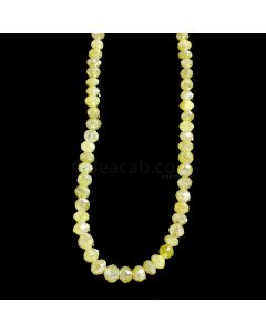 1 Line - Yellow Diamond Faceted Beads - 35.05 cts. - 2.8 to 4.1 mm (YDIA1053)