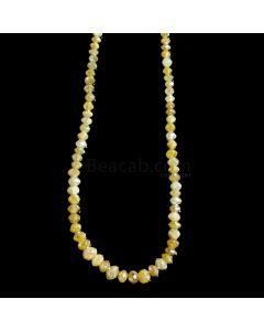 1 Line - Yellow Diamond Faceted Beads - 25.88 cts. - 2 to 4.8 mm (YDIA1054)