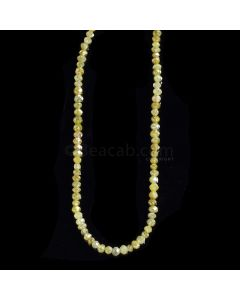 1 Line - Dark Fancy Diamond Faceted Beads - 17.41 cts. - 2 to 2.5 mm (FNCYDIA1072)