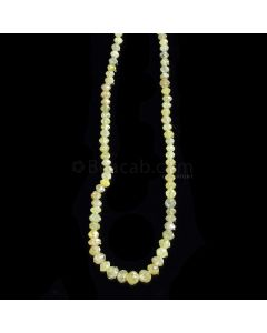 1 Line - Light Fancy Diamond Faceted Beads - 18.92 cts. - 2 to 3.9 mm (FNCYDIA1075)