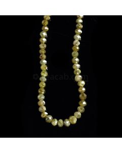 1 Line - Dark Fancy Diamond Faceted Beads - 39.01 cts. - 2.9 to 4.5 mm (FNCYDIA1078)