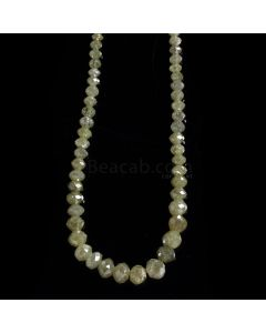 1 Line - Light Fancy Diamond Faceted Beads - 30.68 cts. - 2.3 to 5 mm (FNCYDIA1081)