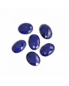 6 Pcs - Blue Lapis Lazuli Rose Cut - 134.02 ct. - 24 x 19 x 5 mm to 26 x 18 x 7 mm (LAPRC1013)