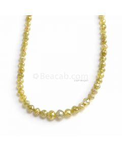 1 Line - Yellow Diamond Faceted Beads - 35.93 ct. - 2.5 to 5.3 mm (YDIA1064)