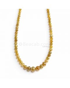 1 Line - Dark Yellow Diamond Faceted Beads - 37.82 ct. - 2.5 to 6.1 mm (YDIA1055)