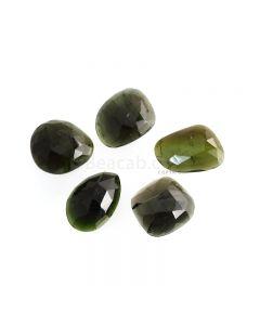 5 Pcs - 56.15 ct. - Green Tourmaline Rose Cut -17 x 16.1 x 15 mm to 20.3 x 13.7 x 15.5 mm (TRC1115)