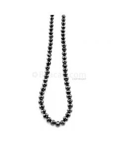 1 Line - 100.53 ct. - Black Diamond Faceted Beads - 4.30 to 6.30 mm - 15 in. (AABDIA1059)