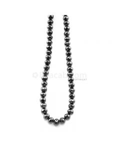 1 Line - 156.36 ct. - Black Diamond Faceted Beads - 6.00 to 7.20 mm - 15 in. (AABDIA1066)