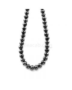 1 Line - 156.98 ct. - Black Diamond Faceted Beads - 6.10 to 7.10 mm - 15 in. (AABDIA1070)