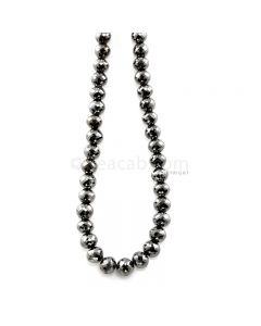 1 Line - 206.98 ct. - Black Diamond Faceted Beads - 7 to 8.20 mm - 15 in. (AABDIA1076)