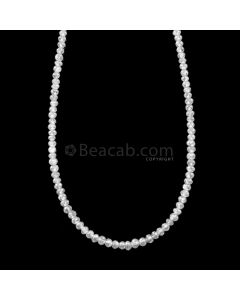 1 Line - 15.44 ct. - White Diamond Faceted Beads - 1.70 to 2.50 mm - 16.5 in. (WDIA1102)