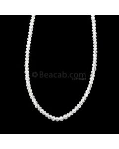 1 Line - 15.27 ct. - White Diamond Faceted Beads - 1.70 to 2.30 mm - 16.5 in. (WDIA1103)