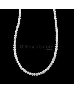 1 Line - 15.4 ct. - White Diamond Faceted Beads - 1.70 to 2.40 mm - 16.5 in. (WDIA1104)