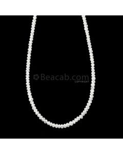 1 Line - 15.25 ct. - White Diamond Faceted Beads - 1.70 to 2.40 mm - 16.5 in. (WDIA1105)