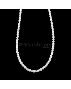 1 Line - 15.46 ct. - White Diamond Faceted Beads - 1.70 to 2.30 mm - 16.5 in. (WDIA1106)