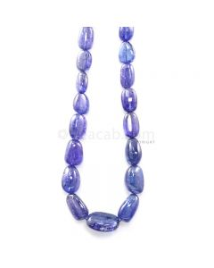 1 Line - 402.80 ct. - Violet Tanzanite Tumbled Beads - 11.5 x 8 mm to 20 x 15.2 mm - 20 in. (TZTUB1091)