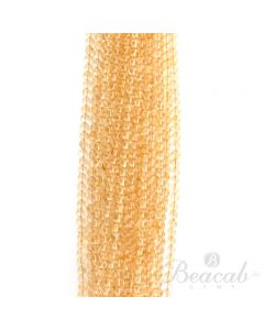 21 Lines of Light Yellow Citrine Plain Beads - 5 to 5.80 mm - 15 in. (CITSB1007)