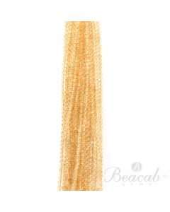 20 Lines of Light Yellow Citrine Plain Beads - 5 to 5.50 mm - 15 in. (CITSB1014)