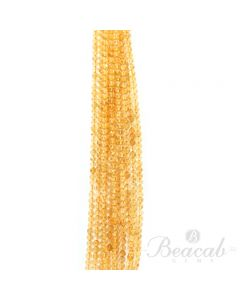 11 Lines of Medium Yellow Citrine Plain Beads - 5.80 mm - 15 in. (CITSB1024)