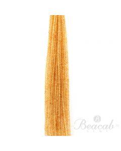 25 Lines of Medium Yellow Citrine Plain Beads - 3.50 mm - 15 in. (CITSB1026)