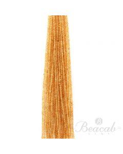34 Lines of Medium Yellow Citrine Plain Beads - 3 mm - 15 in. (CITSB1028)