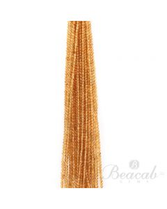 22 Lines of Dark Yellow Citrine Plain Beads - 3.50 to 4 mm - 15 in. (CITSB1036)