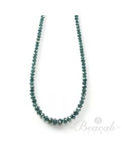 1 Line - 18.62 ct. - Blue Diamond Faceted Beads - 1.6 to 4 mm - 15 in. (BLUDB1025)