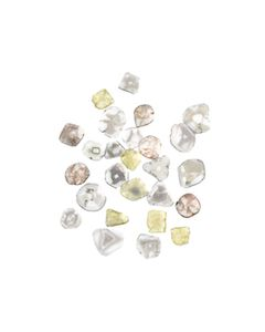 26 Pcs. - 7.24 cts. - Grayish White Diamond Slices - 5.19 x 5.14 x 0.49 mm to 7.92 x 7.69 x 0.62 mm (DS1165)