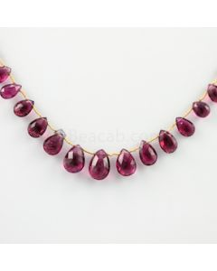 6.50 to 15 mm - 1 Line - Tourmaline Drops - 72.50 carats (ToDr1003)