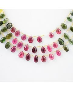 7 to 9 mm - 3 Lines - Tourmaline Drops - 105.00 carats (ToDr1012)