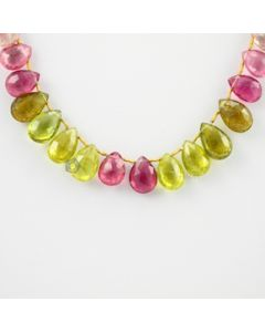 11.5 to 13.5 - 1 Line - Tourmaline Drops - 102.50 carats (ToDr1013)
