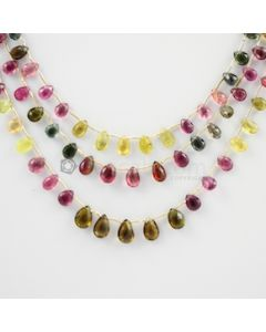 6.50 to 9.50 mm - 3 Lines - Tourmaline Drops - 102.00 carats (ToDr1021)
