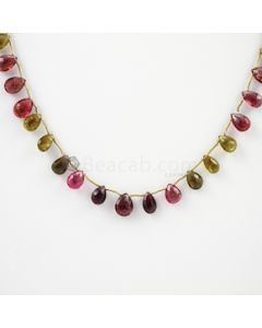 8 to 10 mm - 1 Line - Tourmaline Drops - 65.00 carats (ToDr1030)
