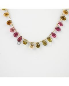 9 to 10 mm - 1 Line - Tourmaline Drops - 48.00 carats (ToDr1031)