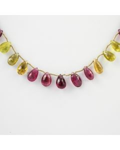 10 to 11.50 mm - 1 Line - Tourmaline Drops - 73.00 carats (ToDr1032)