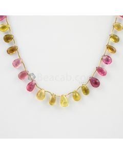 8 to 10 mm - 1 Line - Tourmaline Drops - 48.00 carats (ToDr1033)