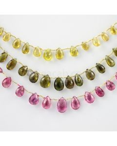 6 to 9 mm - 3 Lines - Tourmaline Drops - 85.00 carats (ToDr1046)