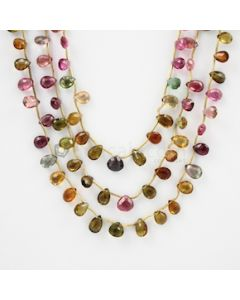 6.50 to 7 mm - 3 Lines - Tourmaline Drops - 130.35 carats (ToDr1054)