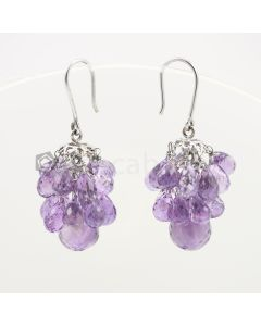 6.50 to 13 mm - Amethyst Drop Earrings - 60.61 carats (CSEarr1020)