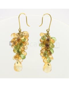 6 to 15 mm - Citrine Drop Earrings - 70.36 carats (CSEarr1018)