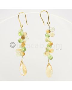 8 to 15 mm - Peridot Drop Earrings - 38.44 carats (CSEarr1040)