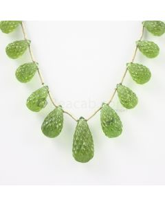 13 to 25 mm - Dark Green Peridot Carved Drops - 121.00 carats (PDr1037)-OOS