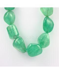 27 to 34 mm - 1 Line - Emerlad Tumbled Beads - 1774.00 carats (EmTub1095)