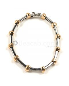 Round Shape White Diamond Bracelet in 18kt Gold - 20.8 grams - EST1365