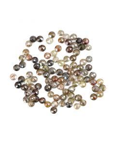 99 Pieces - Fancy Color Diamond Rose Cut - 13.25 ct. - 3 mm (DRC1350)