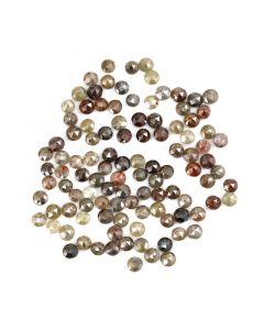 107 Pieces - Fancy Color Diamond Rose Cut - 14.98 ct. - 3 mm (DRC1351)