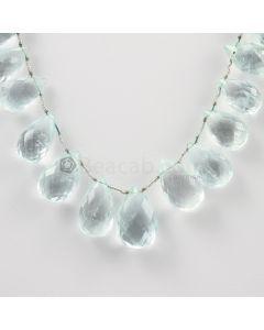 13 to 19 mm - Light Blue Aquamarine Drops - 178.00 carats (AqDr1028)